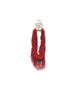Britt's Knits Infinity Scarf - Red