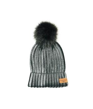 Black Britt's Glacier Knit Pom Hat 6PC