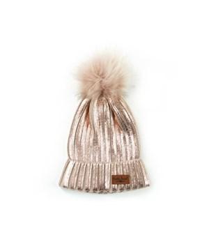 Blush Britt's Glacier Knit Pom Hat 6PC