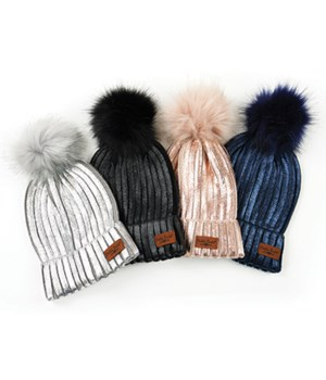 Glacier Knit Pom Hat-Britt's Knits 24PC