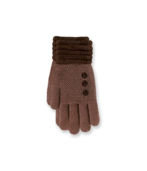 Britt's Knits Gloves - Brown 4PC Refill