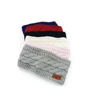 Plush Lined Head Warmers 24PC D