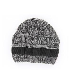Gray Men's Frontier Knit Hat 2PC