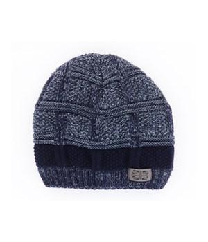 Navy Men's Frontier Knit Hat 2PC