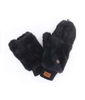 Black Convertible Mittens 4PC Refill