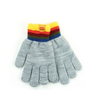 Gray Kids Fuzzy-Lined Gloves 4 PC