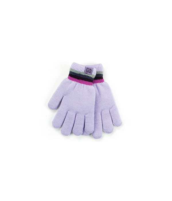 Lavender Kids Fuzzy-Lined Gloves 4 PC