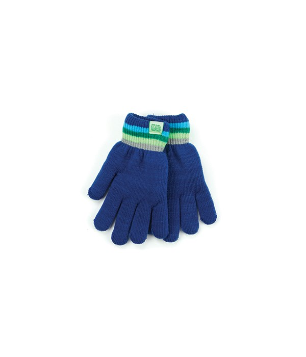 Navy Kids Fuzzy-Lined Gloves 4 PC