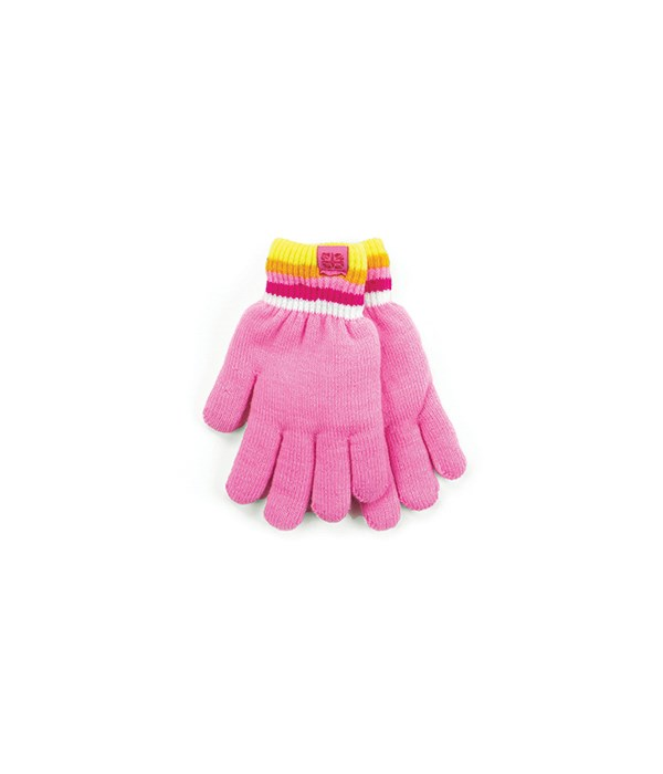 Pink Kids Fuzzy-Lined Gloves 4 PC