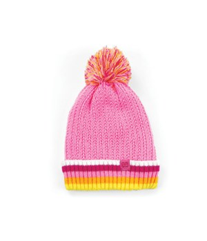Kid's Pink Plush-Lined Pom Hat 4PC