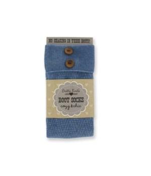 Lt Blue Socks w/Cuff & Buttons -4PC Unit