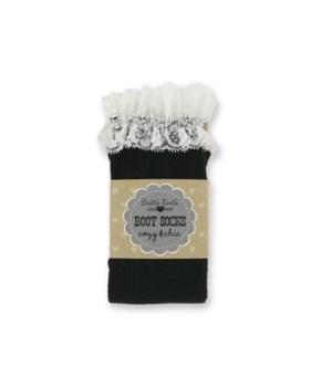 Black Cable Socks w/Lace - 4PC Unit