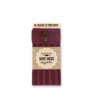 BRG Stripe Socks-Cuff & Buttons-4PC Unit
