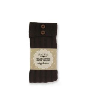 BRN Stripe Socks-Cuff & Buttons-4PC Unit
