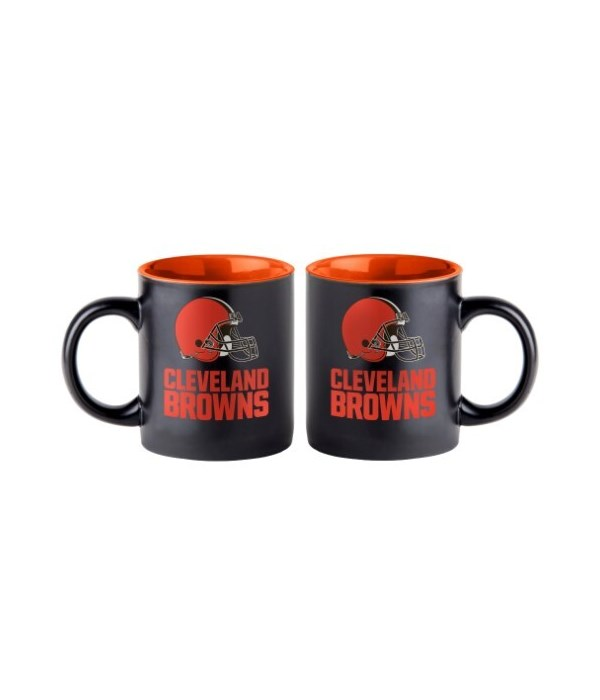 BLACK MUG - CLEV BROWNS