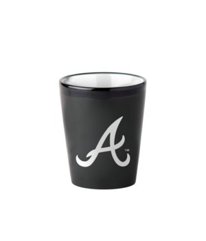 BLACK SHOT GLASS - ATL BRAVES