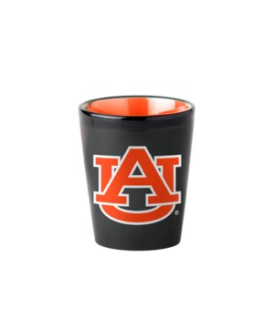 BLACK SHOT GLASS - AUBURN TIGERS