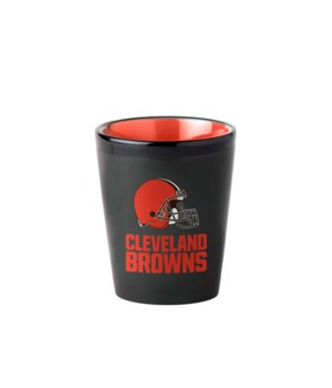 BLACK SHOT GLASS - CLEV BROWNS
