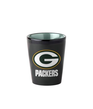 BLACK SHOT GLASS - GB PACKERS