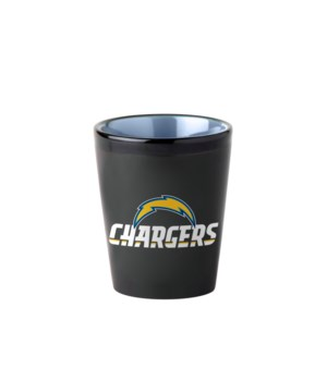 BLACK SHOT GLASS - LA CHARGERS