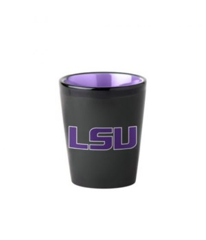 BLACK SHOT GLASS - LSU TIGERS