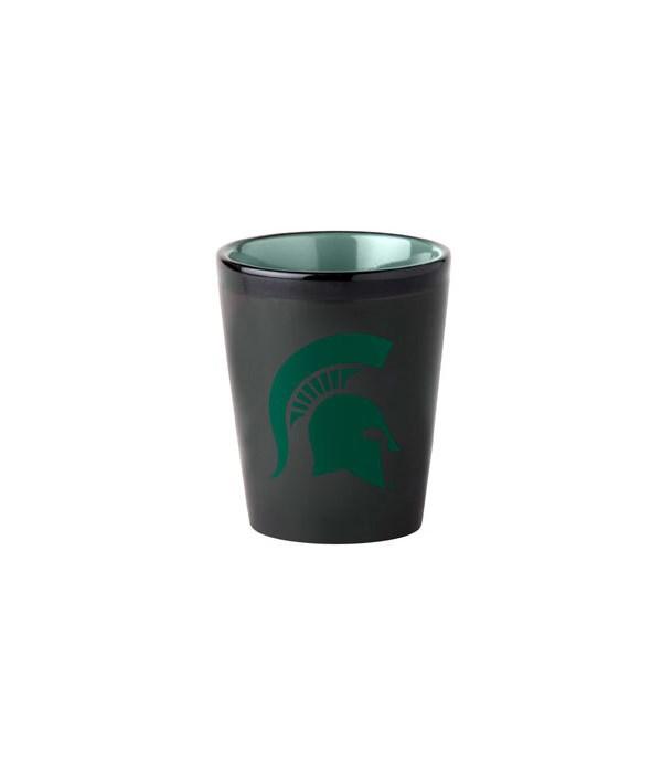 BLACK SHOT GLASS - MICHIGAN STATE