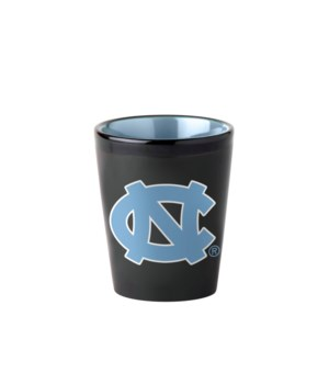 BLACK SHOT GLASS - NC TARHEELS