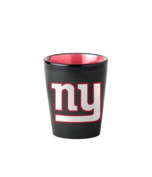 BLACK SHOT GLASS - NY GIANTS