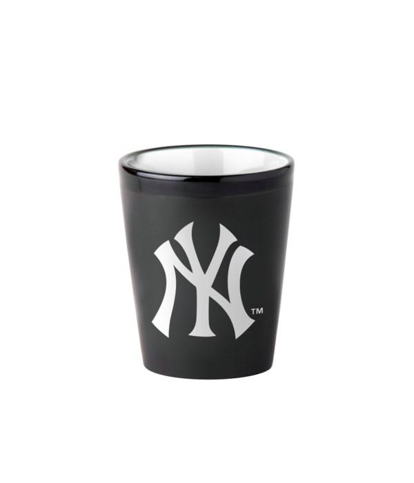 BLACK SHOT GLASS - NY YANKEES