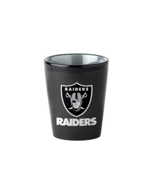 BLACK SHOT GLASS - OAK RAIDERS