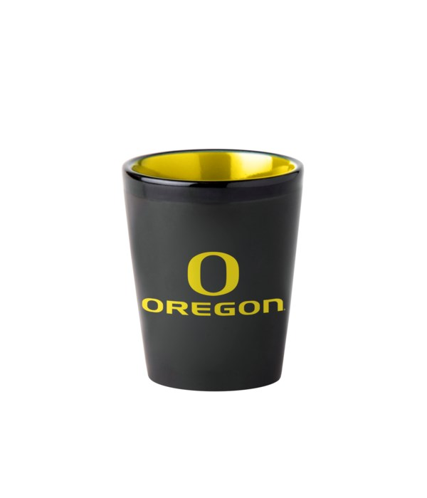 BLACK SHOT GLASS - OREGON DUCKS