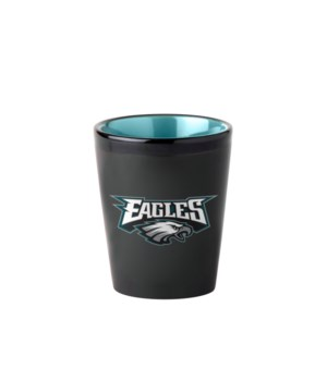 BLACK SHOT GLASS - PHIL EAGLES