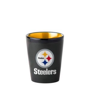 BLACK SHOT GLASS - PITT STEELERS