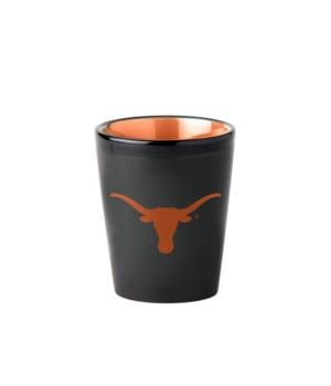 BLACK SHOT GLASS - TX LONGHORNS..