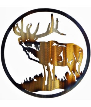 "ELK SIDE VIEW 9"" Round Art"