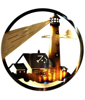 "LIGHTHOUSE 9"" Round Art"