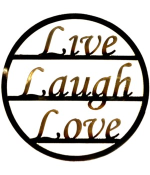 "LIVE LAUGH LOVE 9"" Round Art"