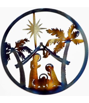"NATIVITY SCENE 9"" Round Art"