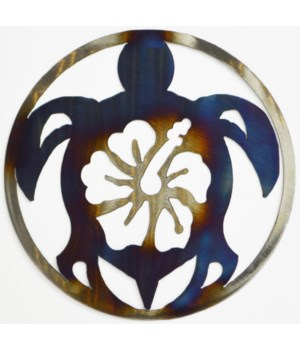 "SEA TURTLE 9"" Round Art"