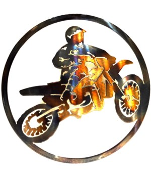 "Dirt Bike 9"" Round Art"
