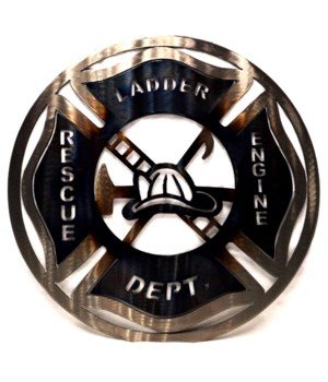 "FIREFIGHTER 9"" Round Art"