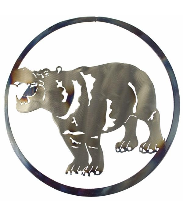 "HIPPO 9"" Round Art"