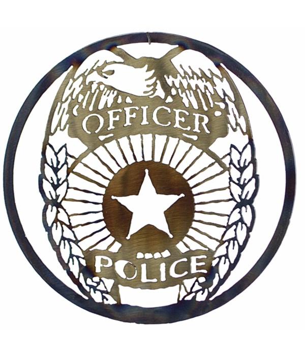 """Police 9"""" Round Art"""