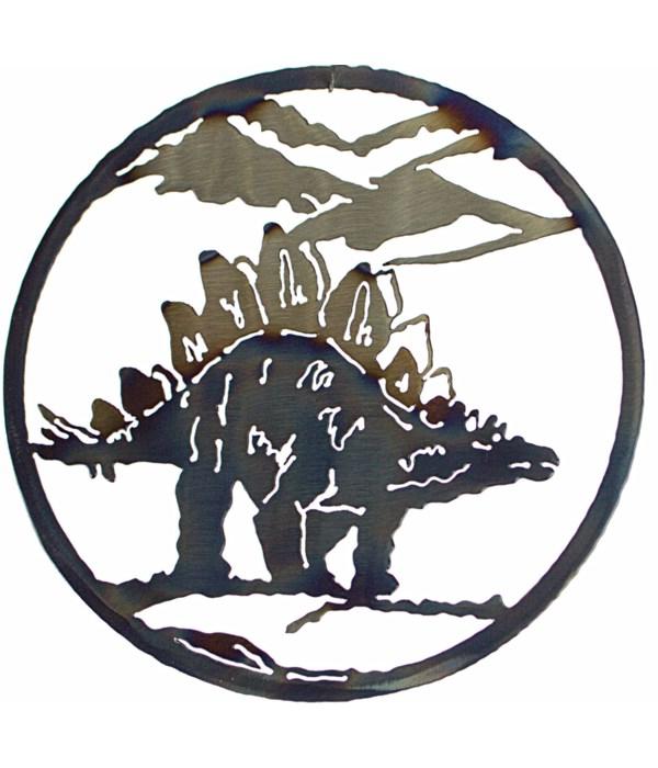 "Stegosaurus 12"" Round Art"