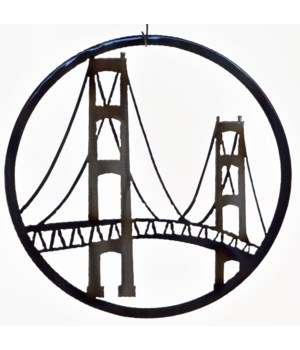 "Mackinac Bridge 9"" Round Art"