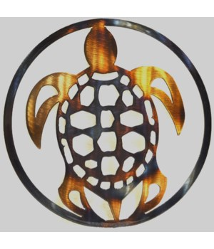 "Shellback Sea Turtle 9"" Round Art"