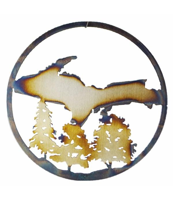 """The Upper Peninsula 9"""" Round Art"""