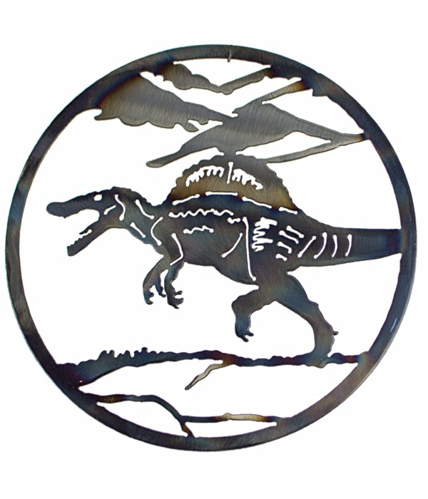 "Spineosaurus 12"" Round Art"