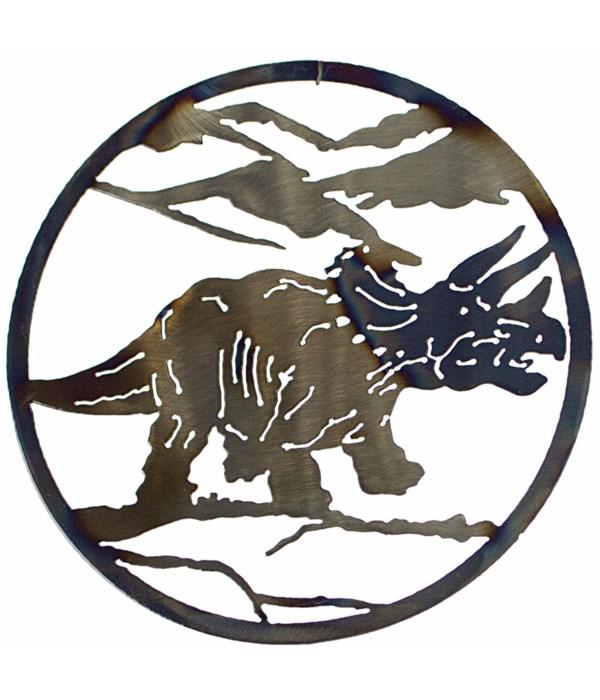 "Tricertops 12"" Round Art"