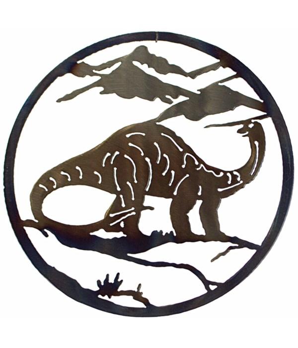 """Brontosaurus 12"""" Round Art"""